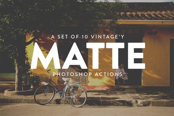 10 Vintage Matte Photoshop Actions