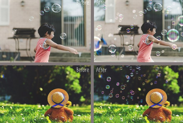 100 Bubbles Overlays