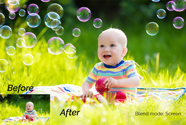 12 Soap Bubbles Photo Overlays