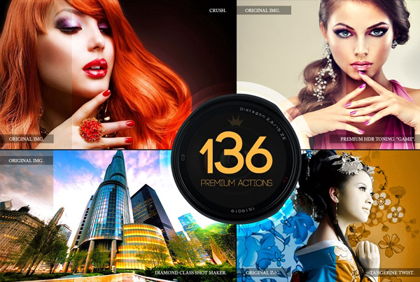 136 Premium Photoshop Actions