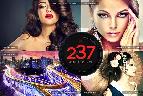 237 Premium Photoshop Actions