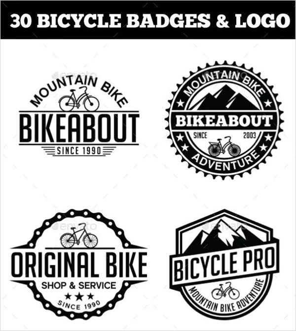 30 Bicycle Badges & Stickers Bundle