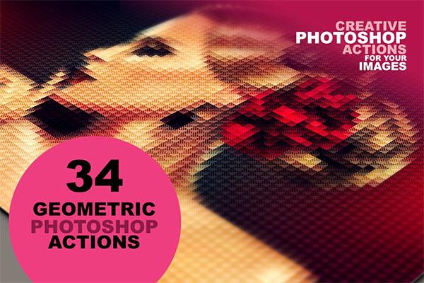 34 Geometric Photoshop Actions