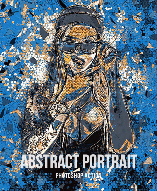 Abstract Portrait Action for Photoshop