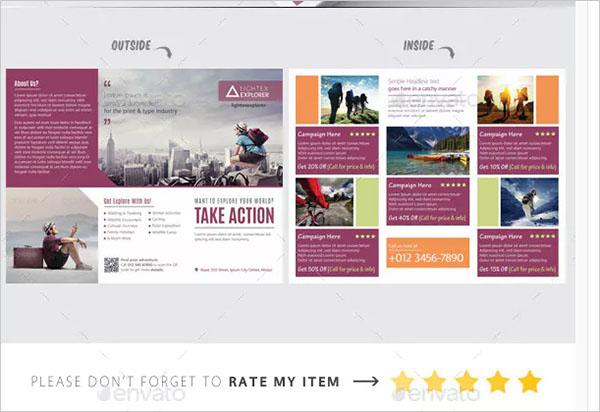 Adventure Camping Tri Fold Brochure