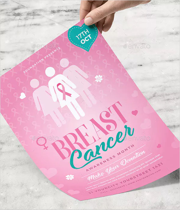 Awareness Breast Cancer Flyer