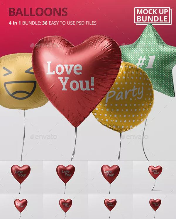 Balloon Mockup Bundle