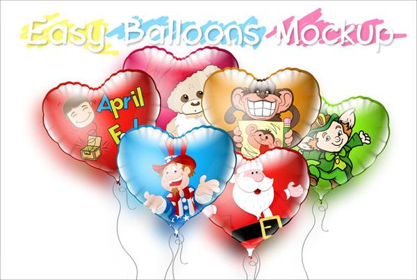 Balloons Mockup