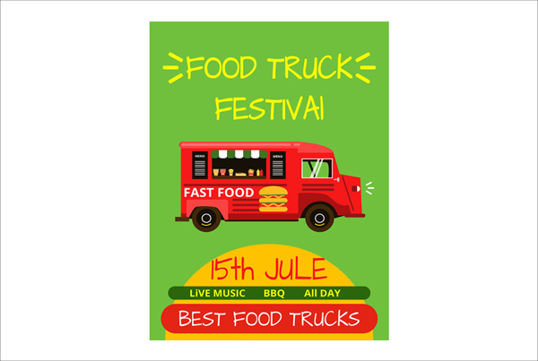 Banner or Menu for Food Truck Festival