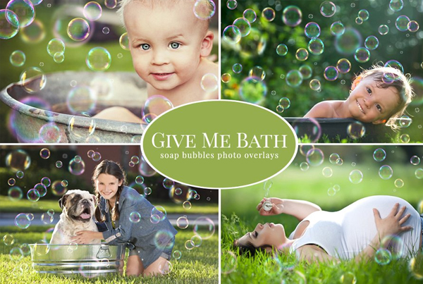 Bath Bubbles Overlays