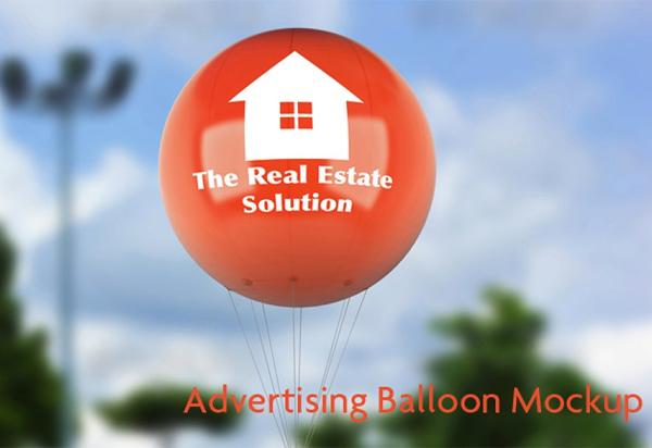 Best Advertising Balloon Mock-Up