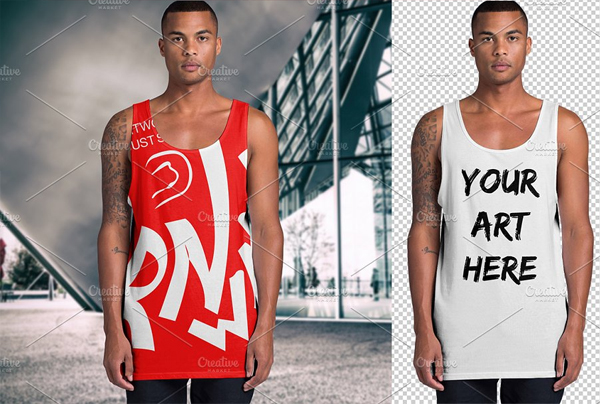 Best Men's Tank Top Mockup