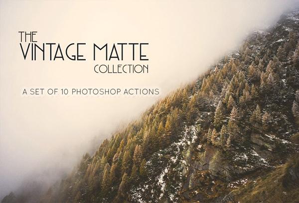 Best Vintage Matte Photoshop Actions