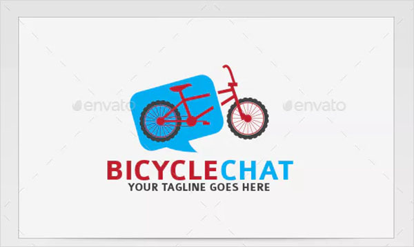 Bicycle Chat Logos Templates