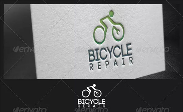 Bicycle Repair Logo Template