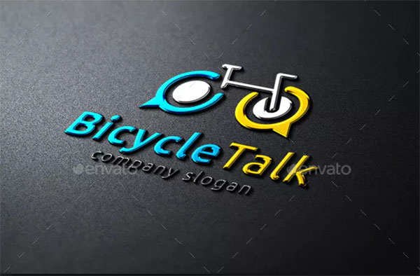 Bicycle Talk Logo Template