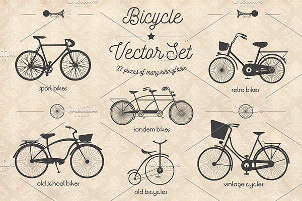 Bicycle Vector Logo Set