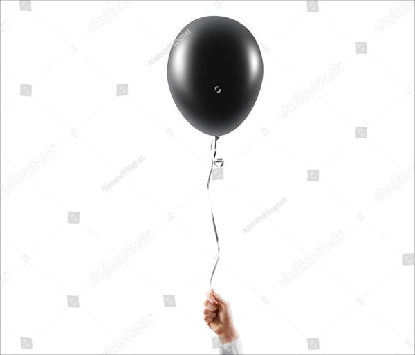 Black Balloon Mock up