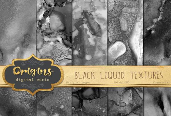 Black Liquid Textures