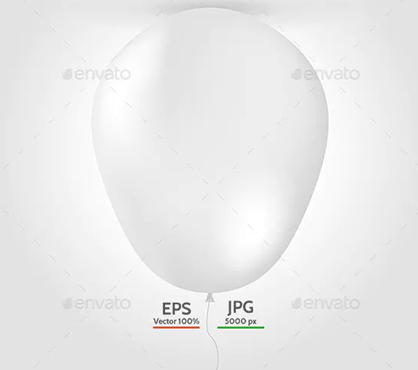 Blank Balloon Mock-up