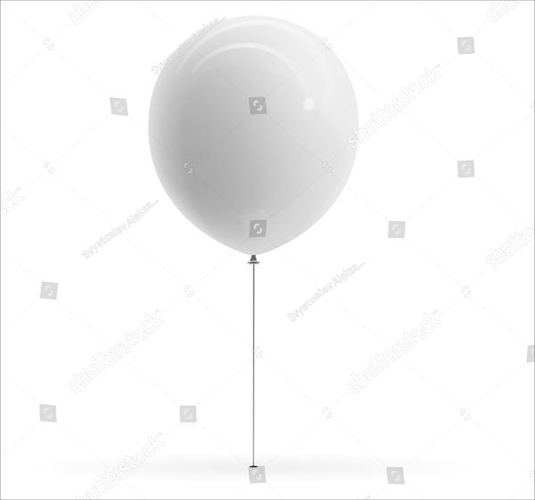 Blank Balloon Realistic Mockup