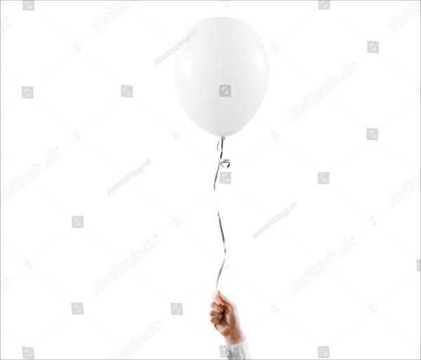 Blank White Balloon Mock up