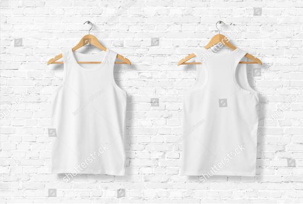 Blank White Tank Top Shirt Mock-up