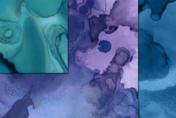 Blue Ink Liquid Textures