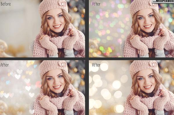 Bokeh Photo Overlays