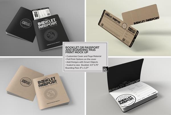 Booklet Passport Print MockUp