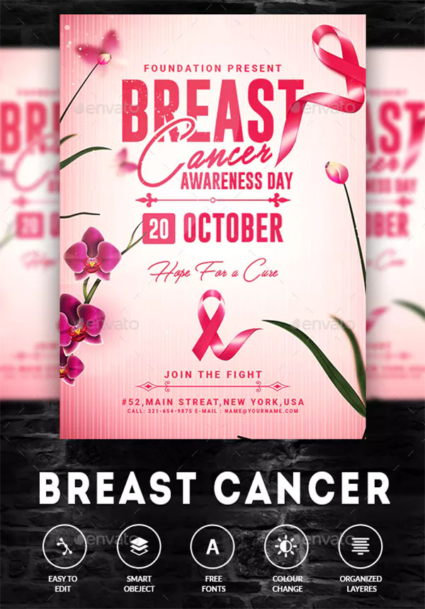 Breast Cancer Awareness Month PSD Flyer