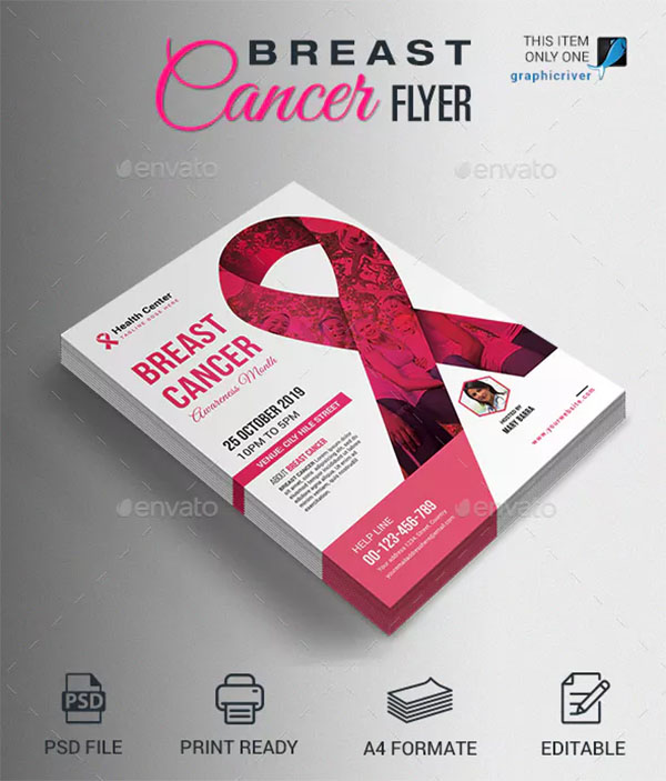 Breast Cancer Awareness PSD Flyer