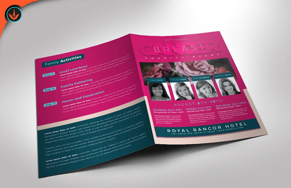 Breast Cancer Charity Event Program