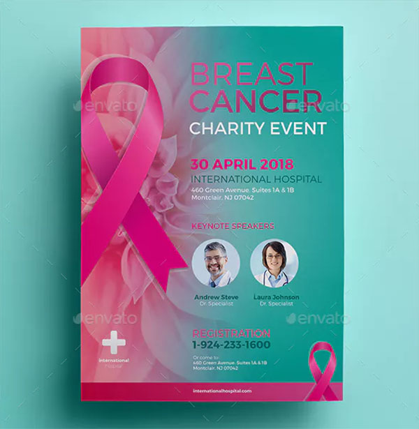 Breast Cancer Charity Flyer