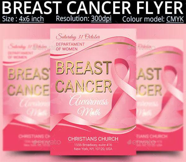 Breast Cancer Flyer Design Template