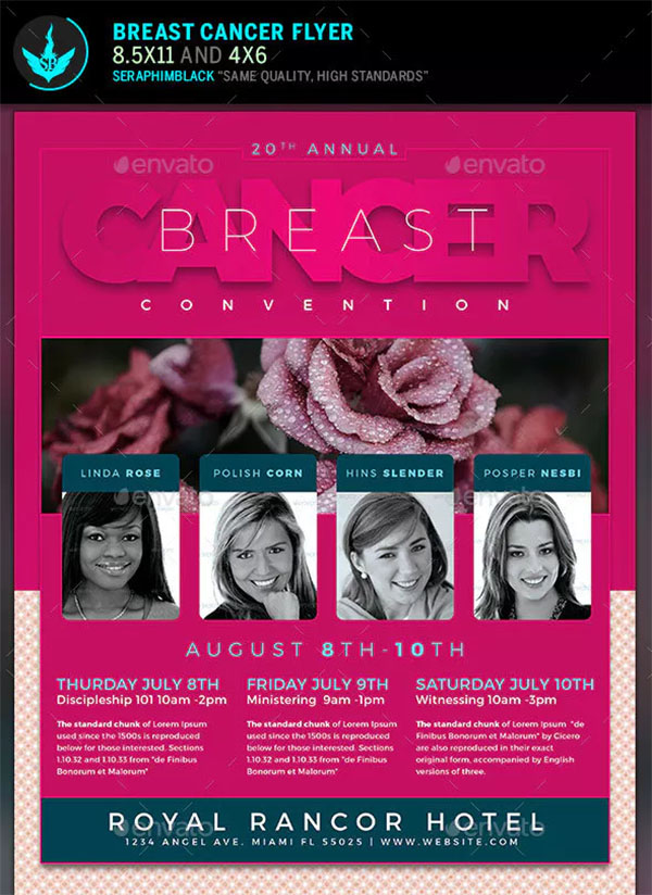 Breast Cancer Flyer Templates