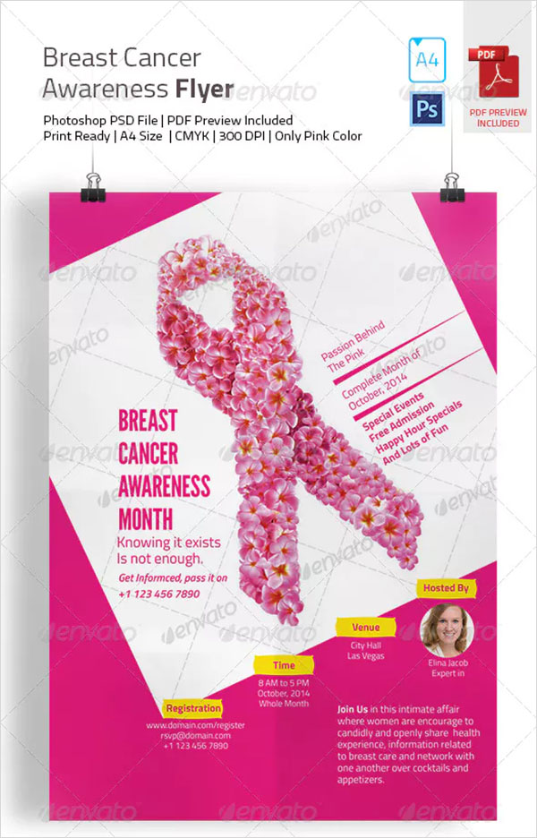 Breast Cancer PSD Awareness Flyer