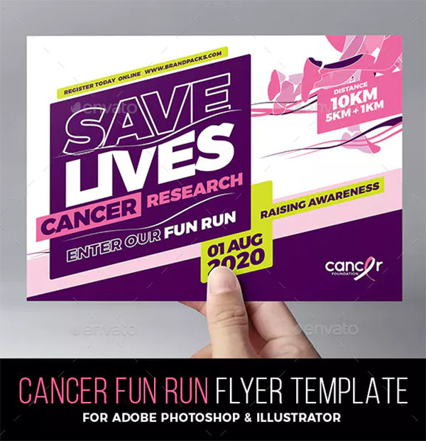 Cancer Benefit Flyer Template
