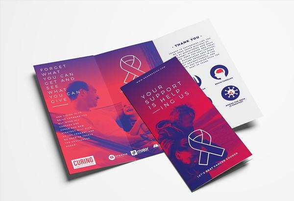 Cancer Charity Tri-Fold Brochure