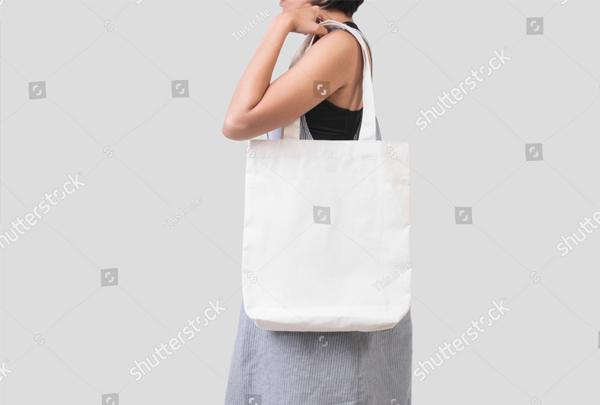 Canvas Fabric Shopping Bag Mockup