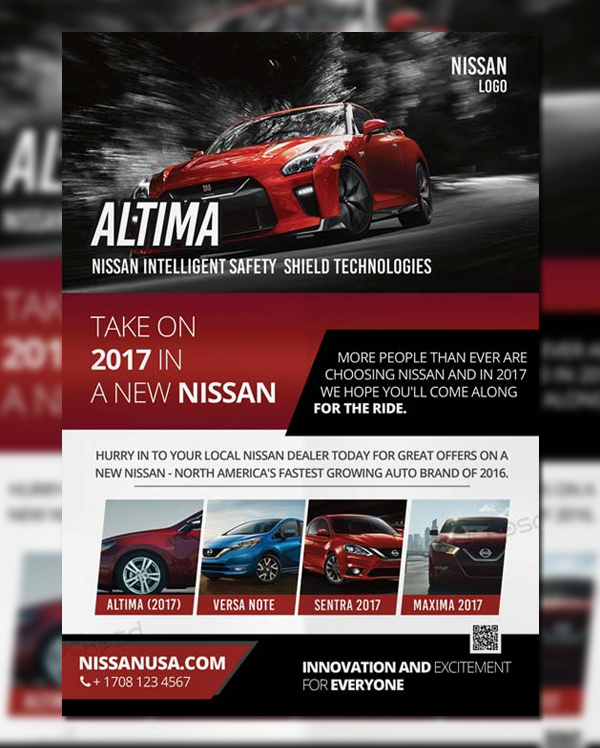 Car Dealer Free Poster and Flyer Template