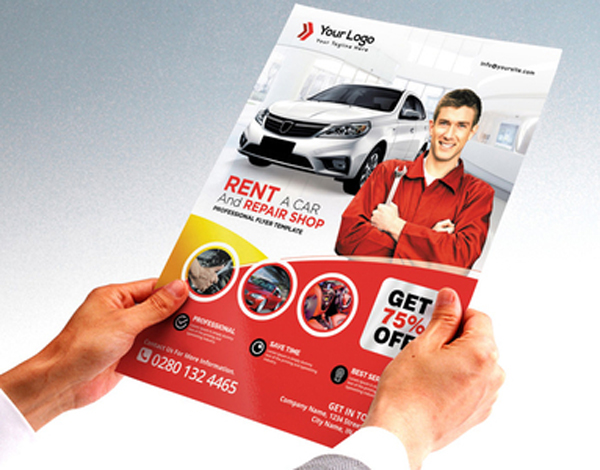 Car Service Flyer Free Template