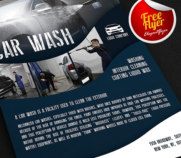 Car Wash Free Flyer PSD Template