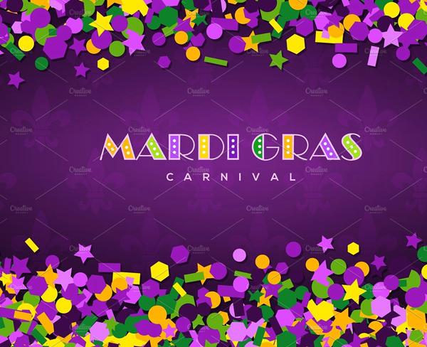 Carnival Mardi Gras Confetti Texture