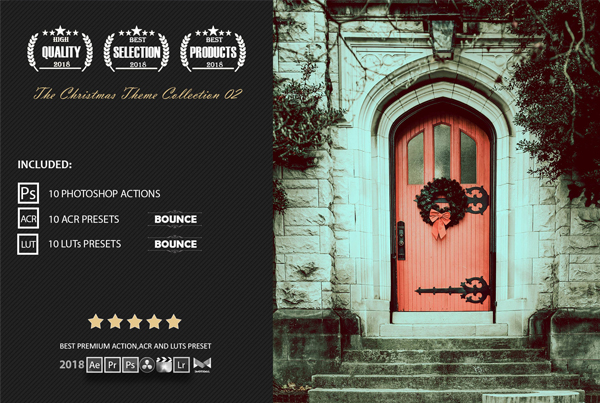 Christmas Color Grading Photoshop Actions