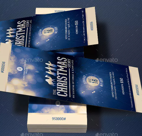 Christmas Story Church Ticket Template