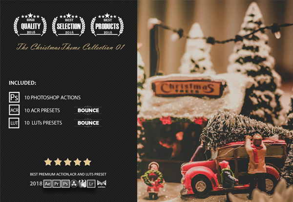 Christmas Theme Color Grading Photoshop Actions