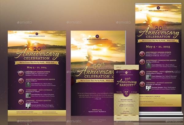 Church Anniversary Templates Kit