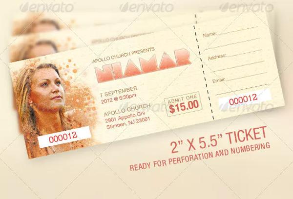 Church Concert Ticket Template