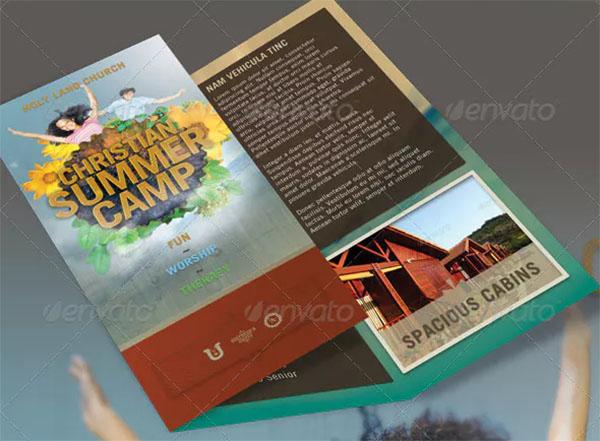 Church Summer Camp Brochure Template
